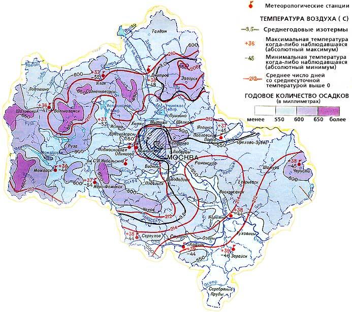 Климат Москвы и Подмосковья